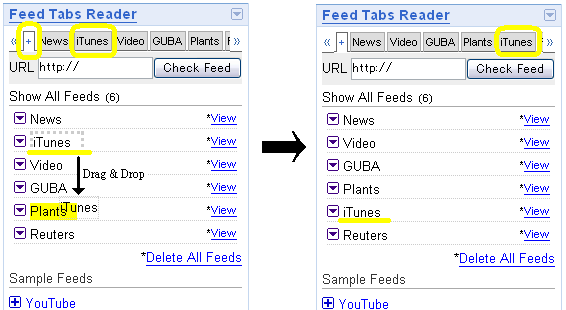 「Feed Tabs Reader」サンプル3